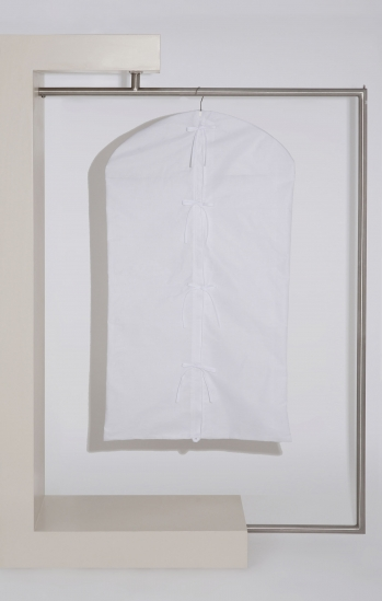Cotton Garment Cover with Ribbons
