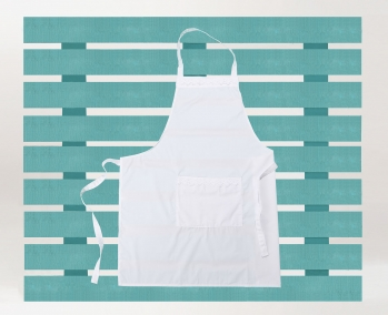 White Apron with lace