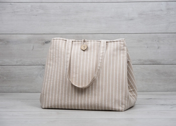 "Christening Bag ""Striped"""
